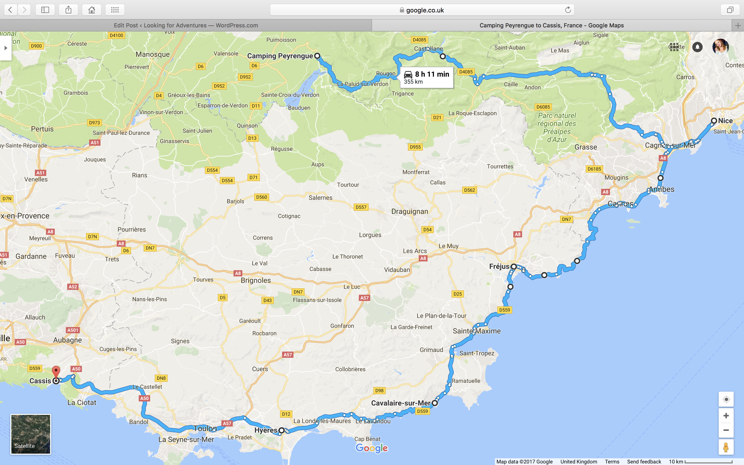 Motorbiking from London to the South of France Looking for Adventures