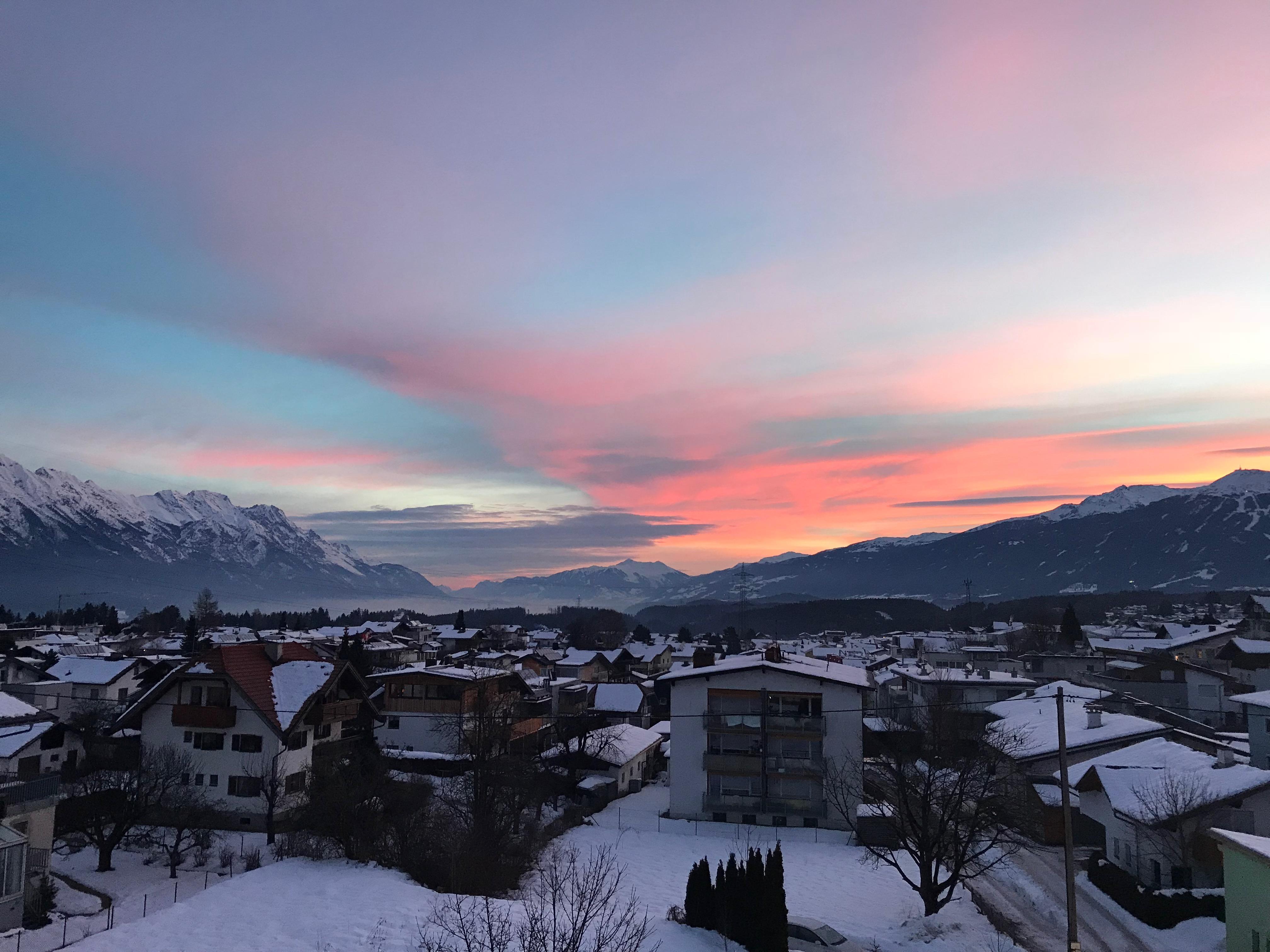 Sunrise from Alp Art Hotel